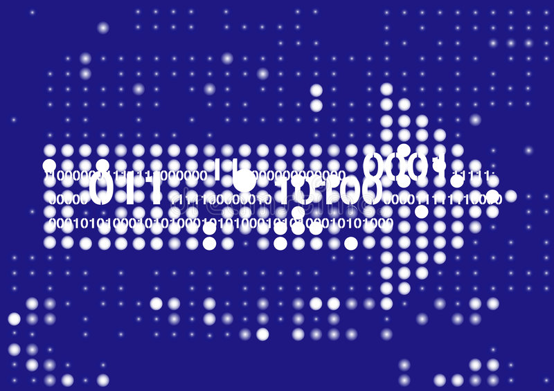 komputerowy tło pokaz ilustracji