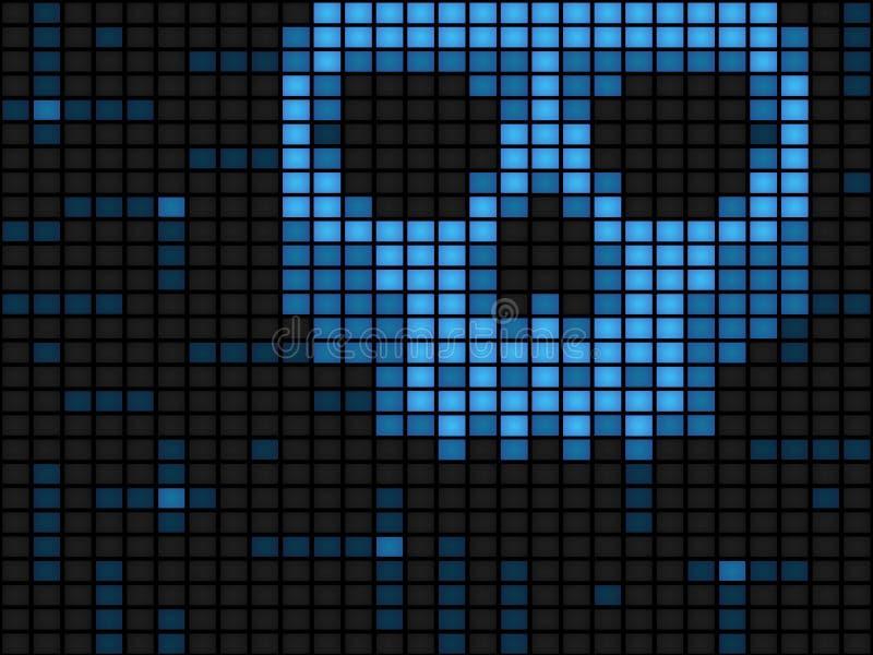 komputerowy tło wirus royalty ilustracja