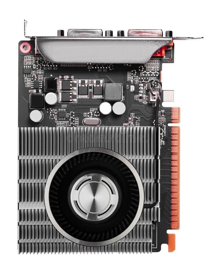 Komputerowy videocard odizolowywający zdjęcie stock