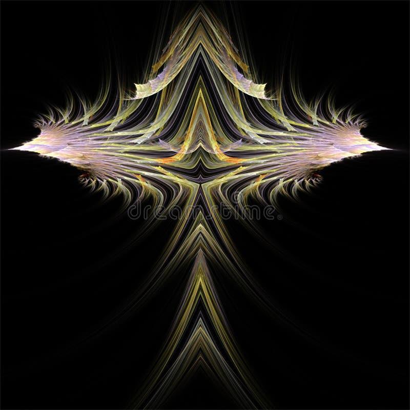 Komputerowych cyfrowych fractal sztuki abstrakcjonistycznych factals fantastyczny kolorowy symetryczny różowy wybuch royalty ilustracja