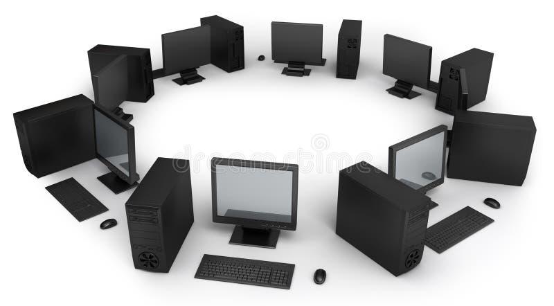 komputeru desktop ilustracji