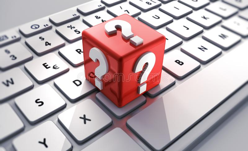 Komputeru FAQ usługi - 3D ilustracja ilustracja wektor