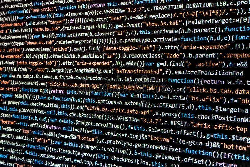 Komputeru HTML kod zdjęcie stock