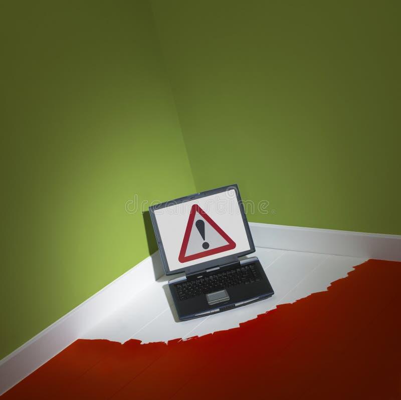 komputeru narożnikowy laptopu pokój obraz stock