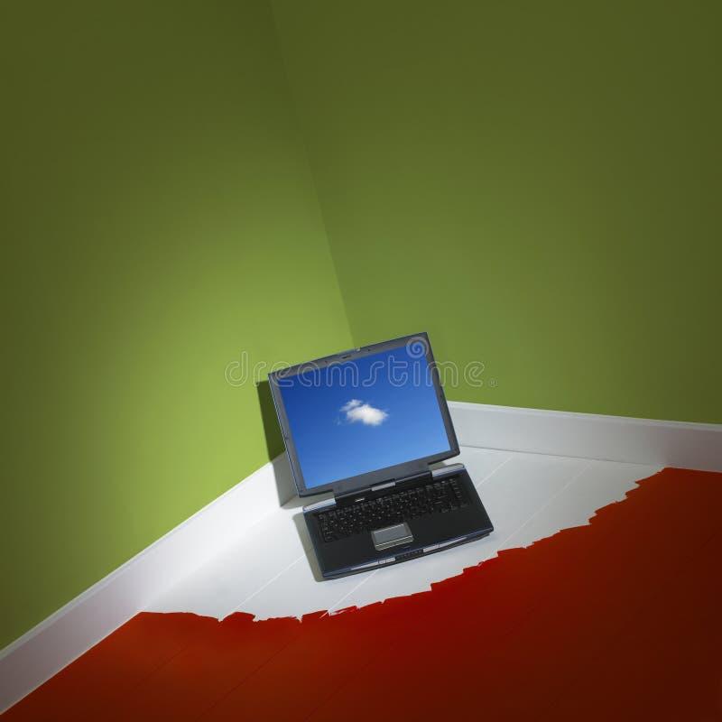 komputeru narożnikowy laptopu pokój zdjęcia royalty free