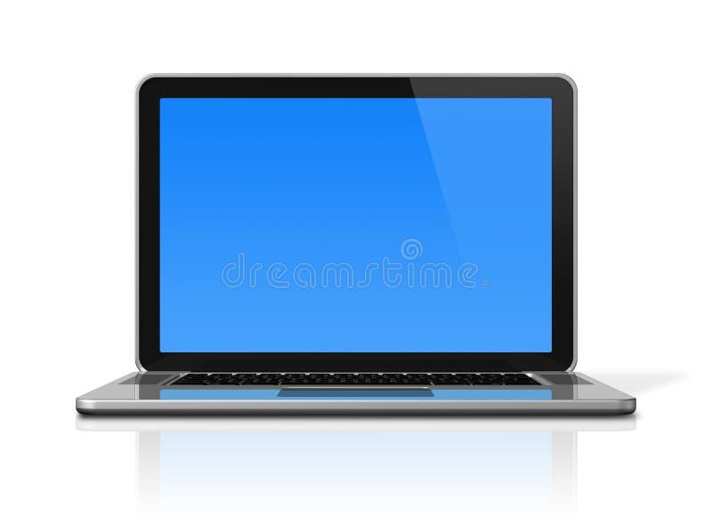 komputeru odosobniony laptopu biel royalty ilustracja