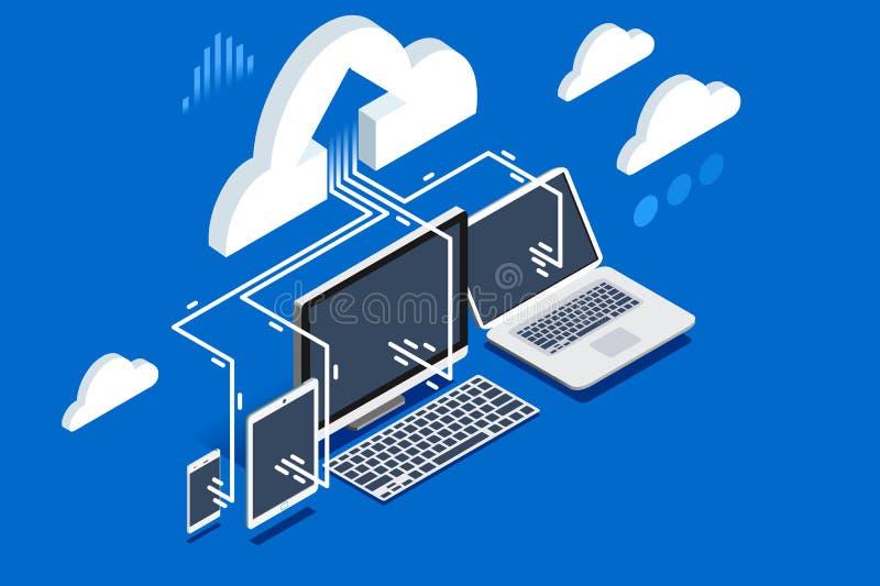 Komputeru osobistego oprogramowania upload użytkowników dane ilustracji