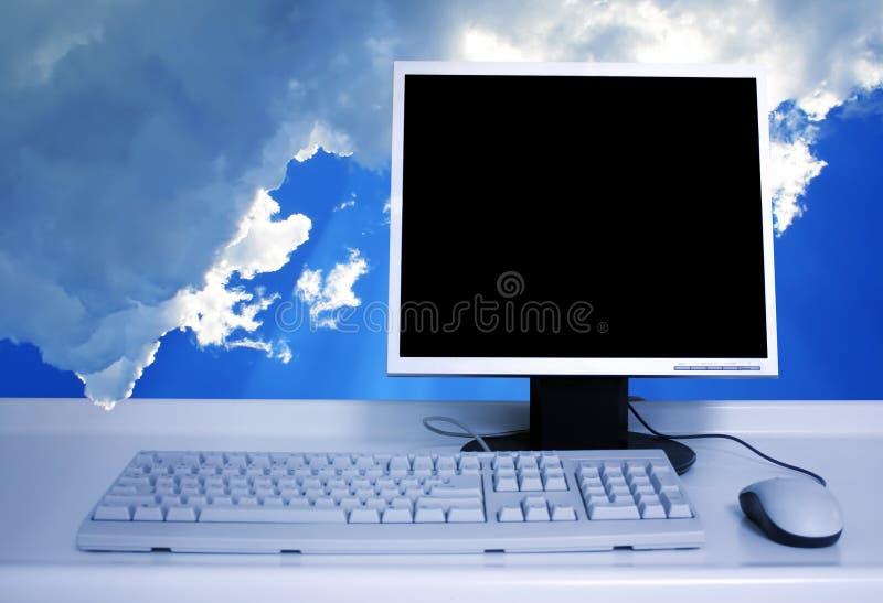 komputeru osobisty niebo fotografia stock