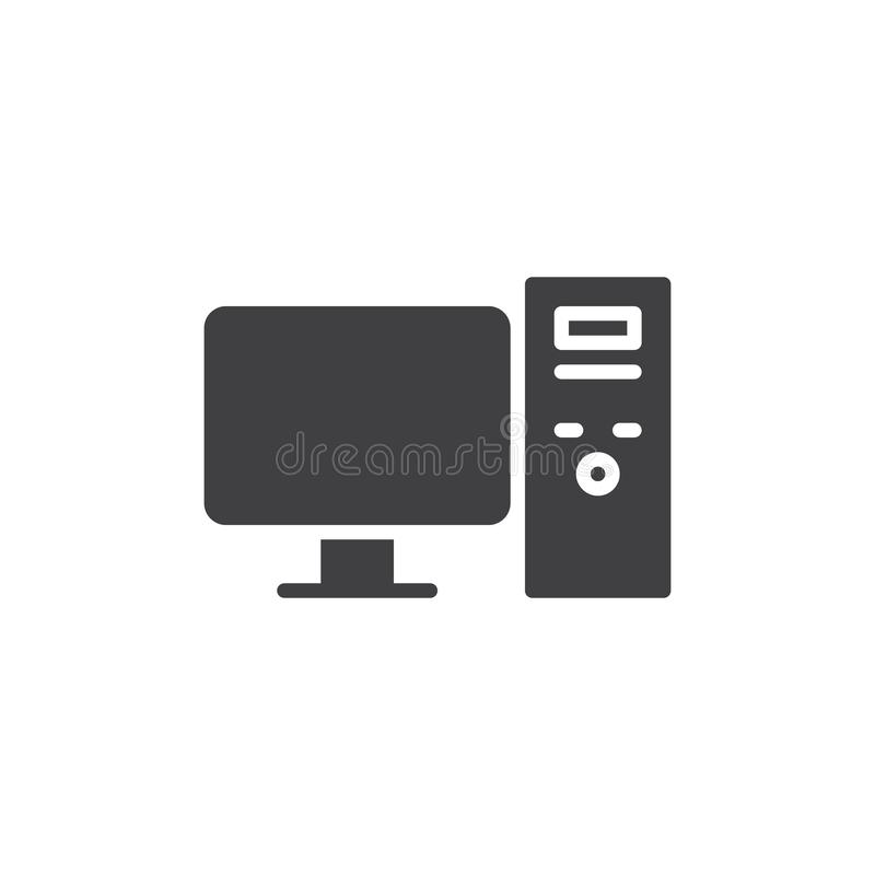 Komputeru stacjonarnego wektoru ikona ilustracja wektor
