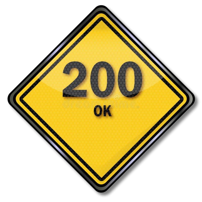 Komputeru talerz 200 prośba przetwarzał pomyślnie i jest ok ilustracja wektor