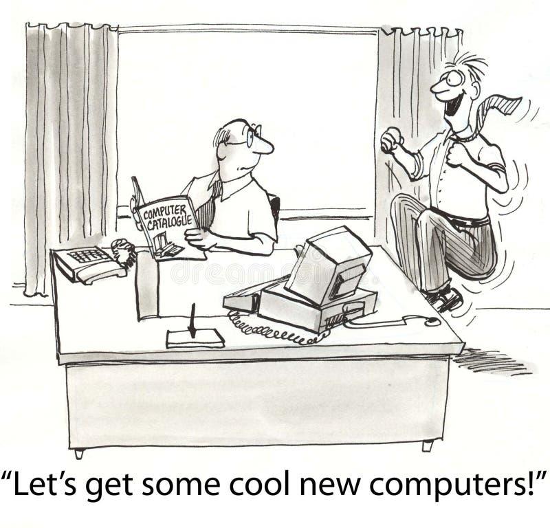 komputery dostają royalty ilustracja