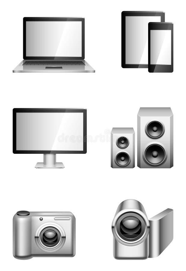 Komputery i elektronika. ilustracja wektor
