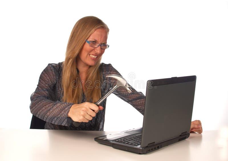 komputery nienawidzą i zdjęcia stock