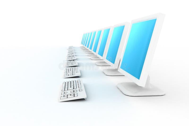 komputery wiosłują biały b ilustracji
