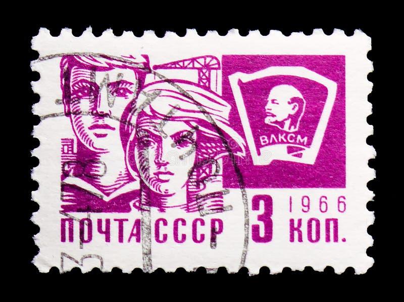 Komsomoła, społeczeństwa i technologii seria około 1966, zdjęcia royalty free