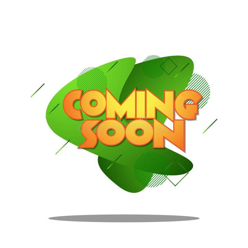 Komst spoedig in vloeibare moderne design_03 vector illustratie