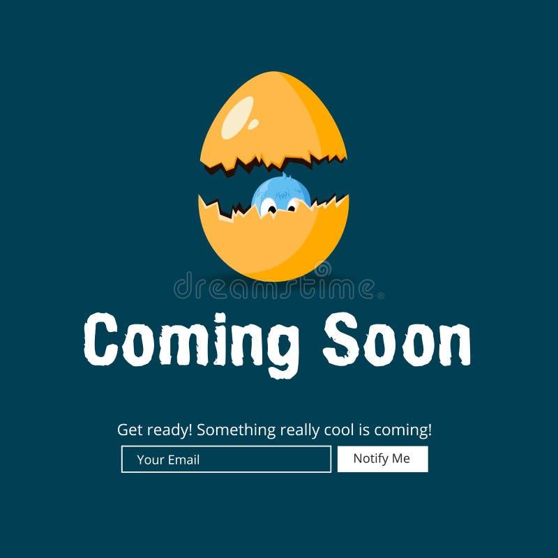 Komst spoedig Websitemalplaatje vector illustratie