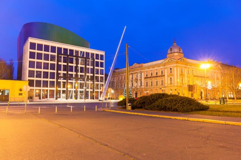 Komst in Zagreb stock foto