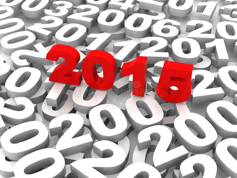 2015 komt stock illustratie