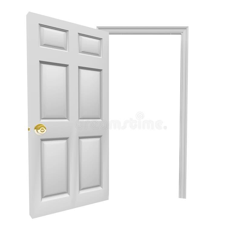 Komt de deur Open Uitnodiging binnen Lege Exemplaarruimte Uw Bericht stock illustratie