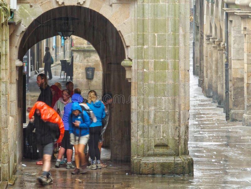 Komt hier de regen - Santiago de Compostela royalty-vrije stock foto's