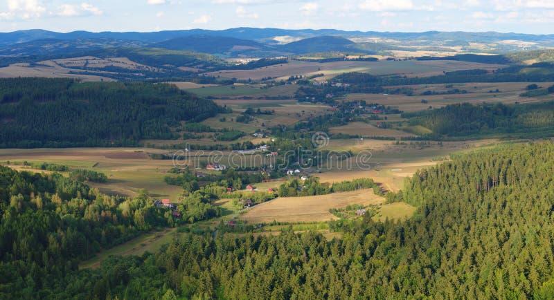 komunalne jeden Moscow panoramiczny widok Polska, Stołowe góry obraz royalty free