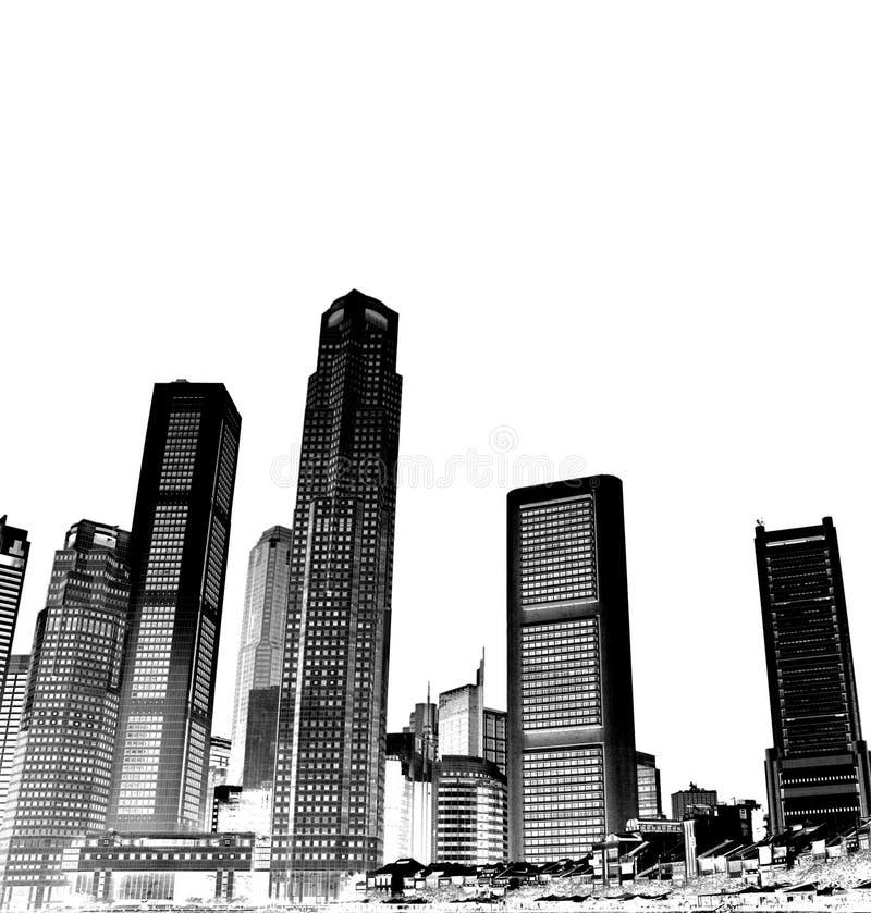 komunalne pejzaż ilustracja wektor