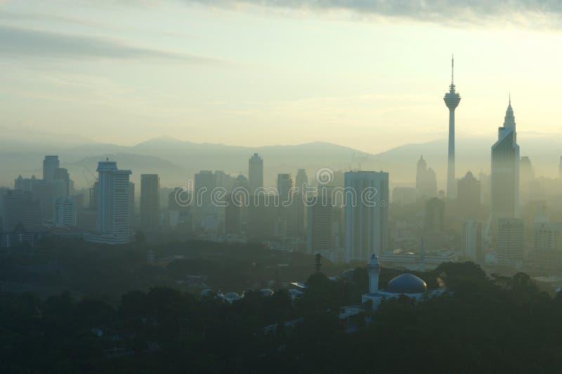 komunalne pejzaż Kuala lumpar zdjęcie stock