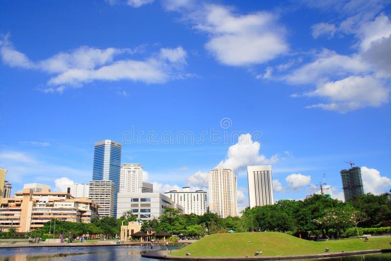 komunalne pejzaż Kuala Lumpur obrazy royalty free