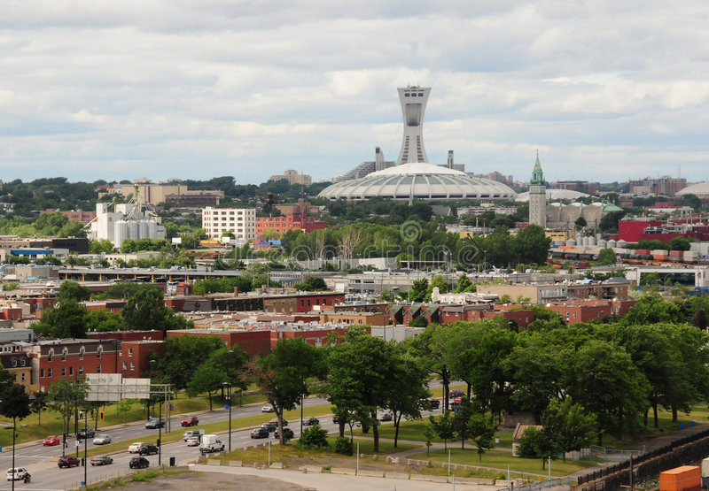 komunalne pejzaż Montrealskiego zdjęcia royalty free