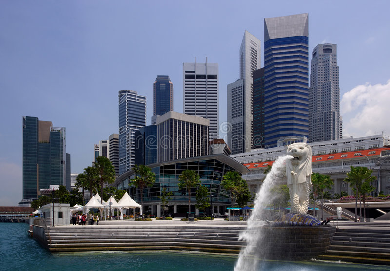 komunalne pejzaż Singapore obraz stock