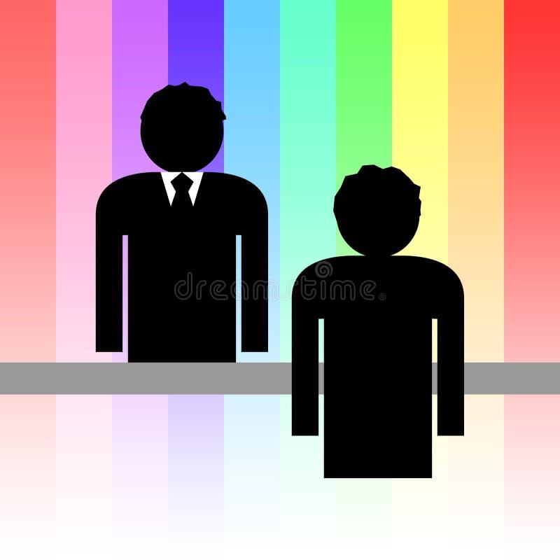 Komunikaci biznesowej ilustracja ilustracja wektor