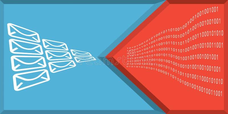 Komunikaci i interneta ochrony pojęcie ilustracji