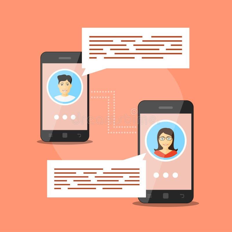 Komunikaci mobilnej pojęcie ilustracji