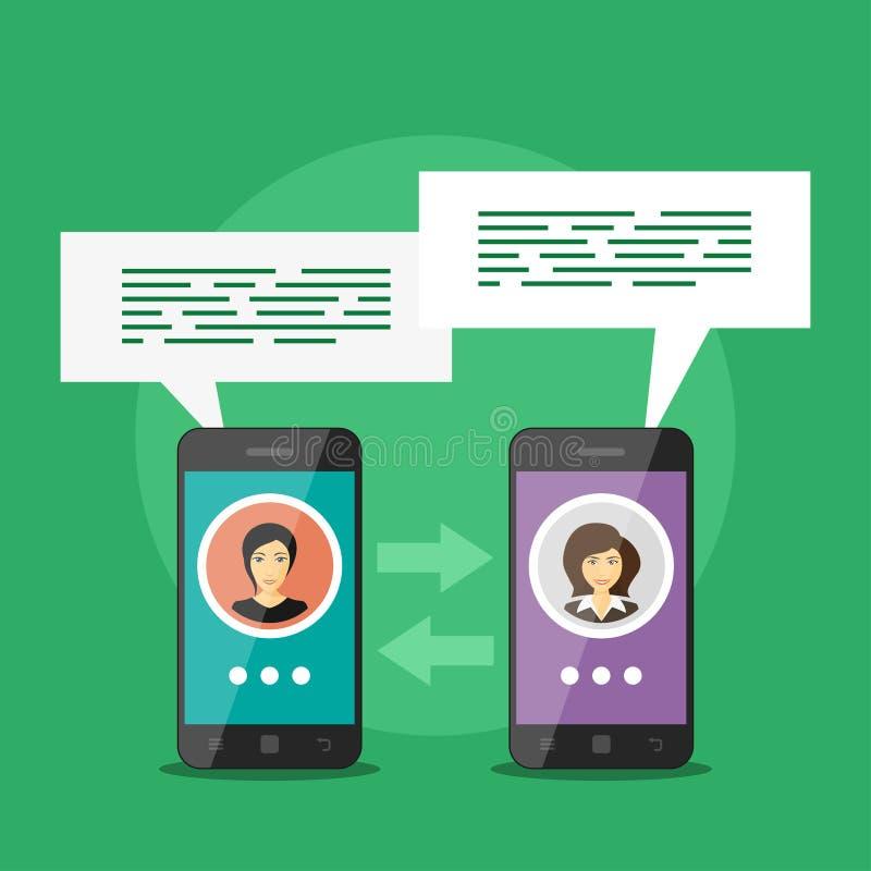 Komunikaci mobilnej pojęcie royalty ilustracja