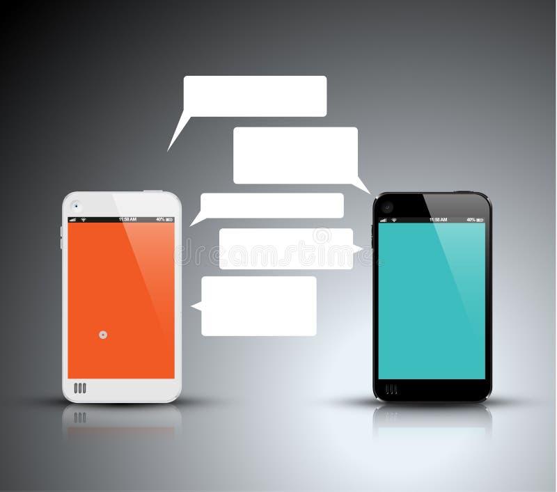 Komunikaci mobilnej technologia - pojęcie ilustracja ilustracja wektor