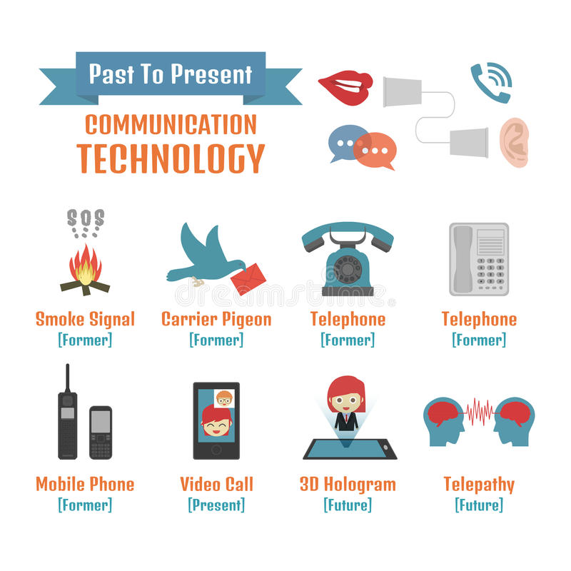 Komunikacja royalty ilustracja