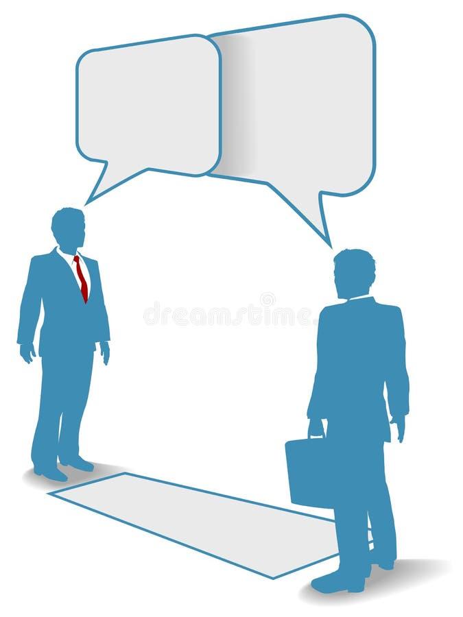 komunikacja biznesowa łączy spotkanie rozmów ludzi ilustracji