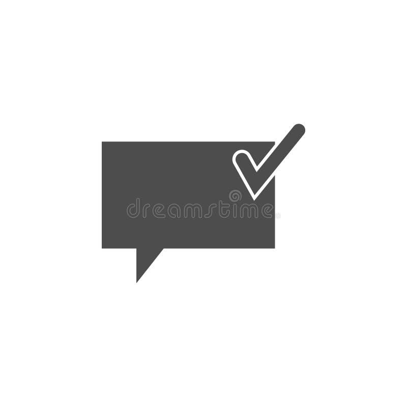 komunikacja gulgocze z znaka ok ikoną Elementy sieci ikona Premii ilości graficznego projekta ikona znaki i symbole inkasowi royalty ilustracja