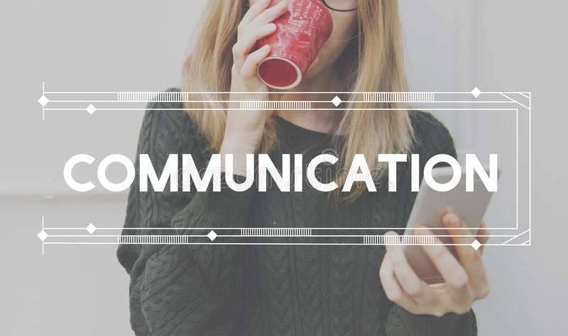 Komunikacja Komunikuje dyskusi rozmowy pojęcie zdjęcie royalty free