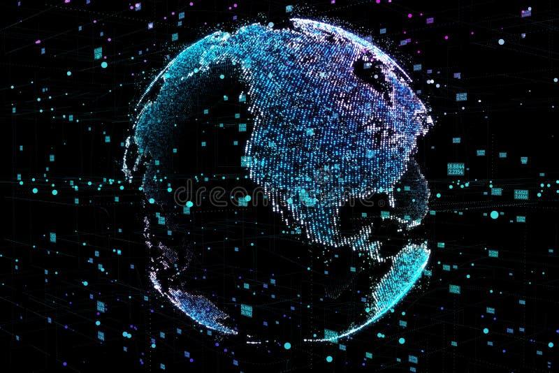 Komunikacja ludzie w ogólnospołecznej sieci bez granic Związek wykłada Wokoło Ziemskiej kuli ziemskiej Pojęcie ilustracji