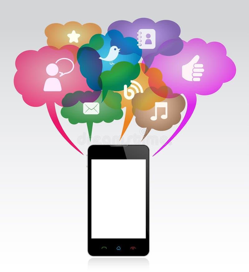 Komunikacja Mobilna royalty ilustracja