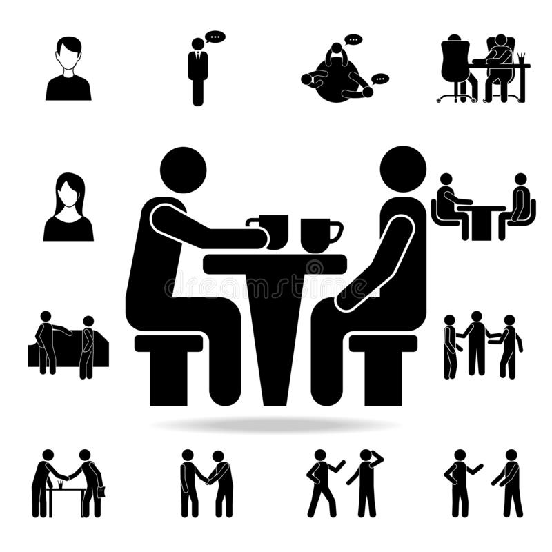 komunikacja nad filiżanki kawy ikoną Szczegółowy set rozmów ikony Premia graficzny projekt Jeden inkasowe ikony ilustracji