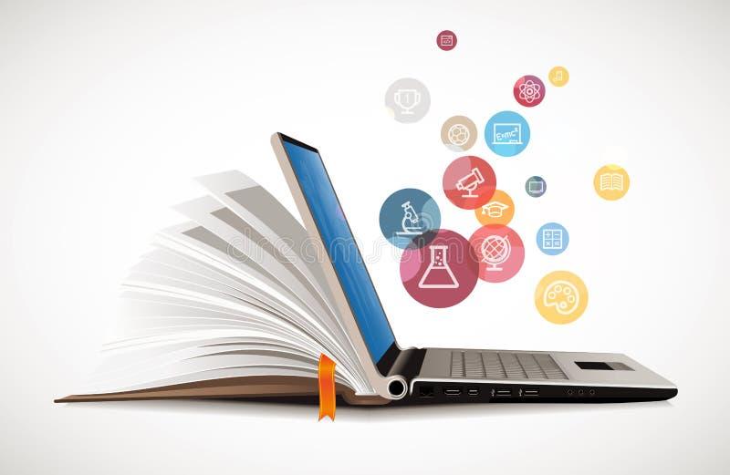 IT komunikacja - nauczanie online ilustracji
