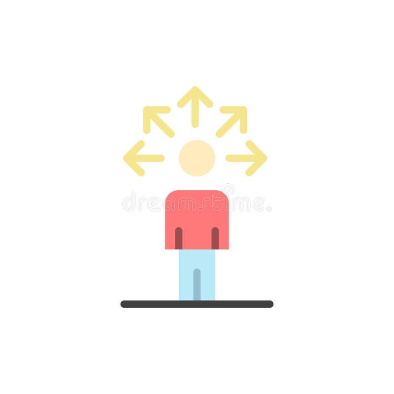 Komunikacja, zdolność, związek, Ludzka Płaska kolor ikona Wektorowy ikona sztandaru szablon ilustracji