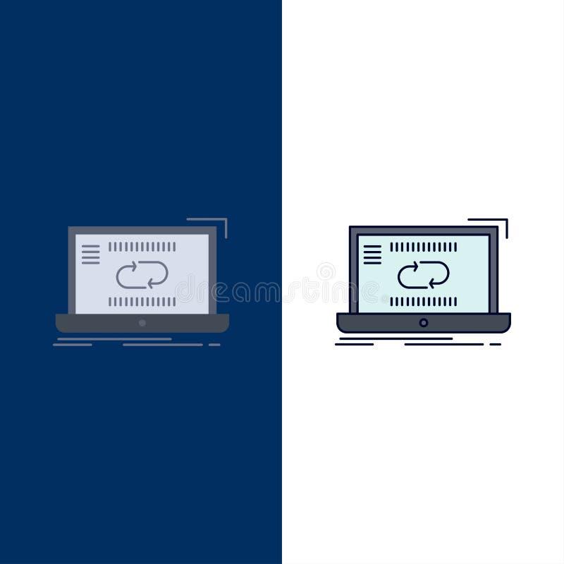 Komunikacja, związek, połączenie, synchronizacja, synchronizacja koloru ikony Płaski wektor ilustracja wektor