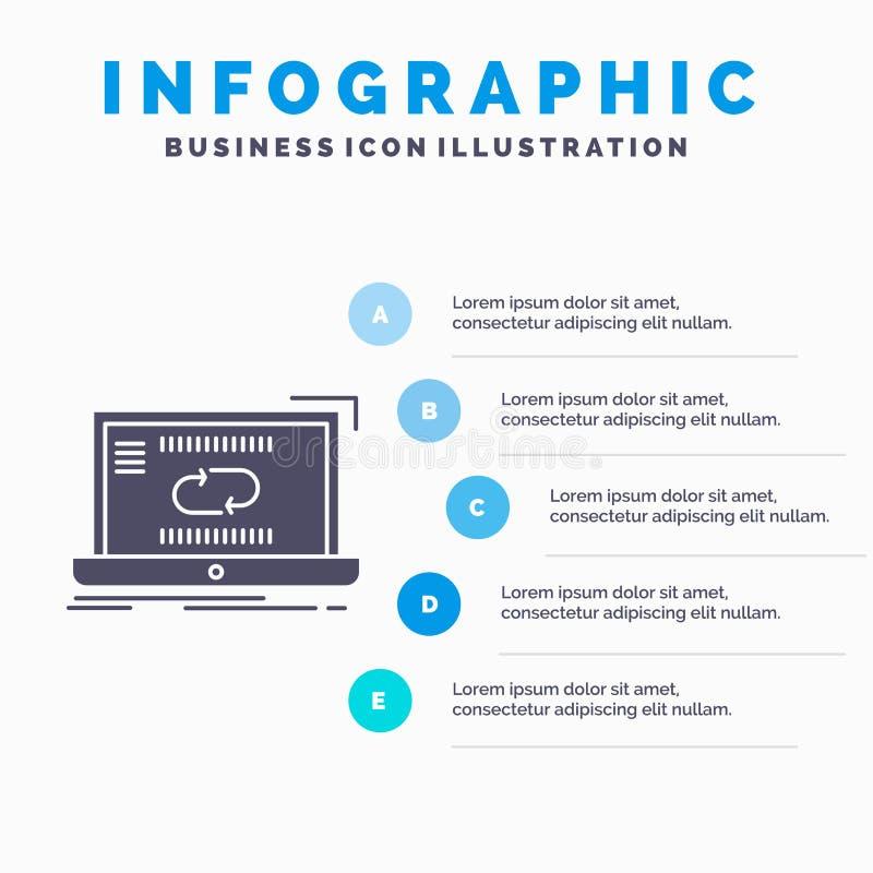 Komunikacja, związek, połączenie, szablon dla strony internetowej i prezentacja, synchronizacji, synchronizacji Infographics, gli royalty ilustracja