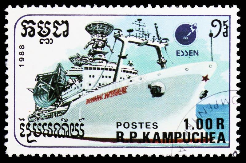 Komunikacje Wysyłają, statku seria około 1988, zdjęcia stock
