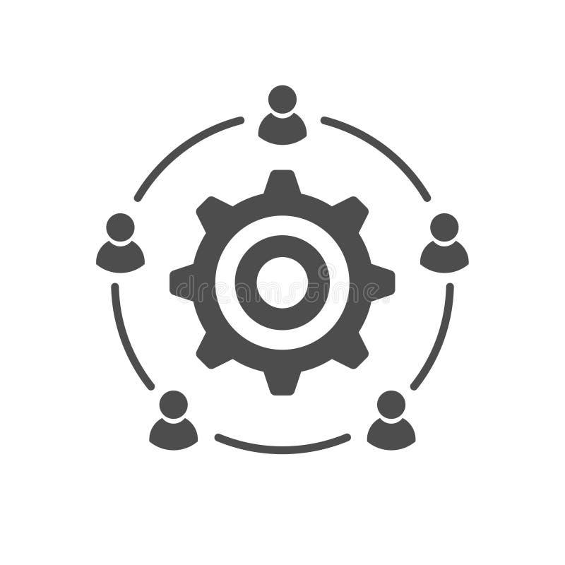 Komunikacji biznesowej grupowej dyskusji ikona ilustracja wektor