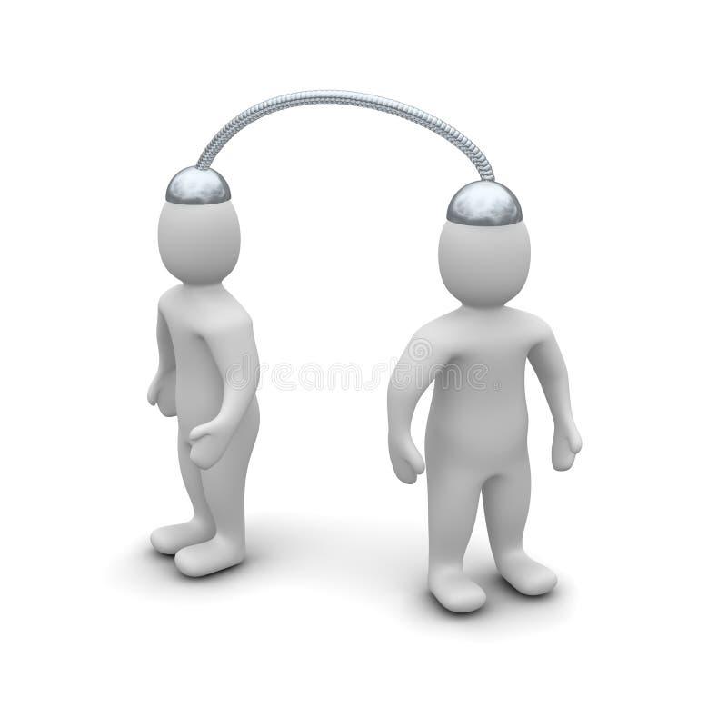 komunikacyjna telepatia ilustracja wektor